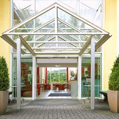 Eingang unserer Residenz Ambiente in Gummersbach